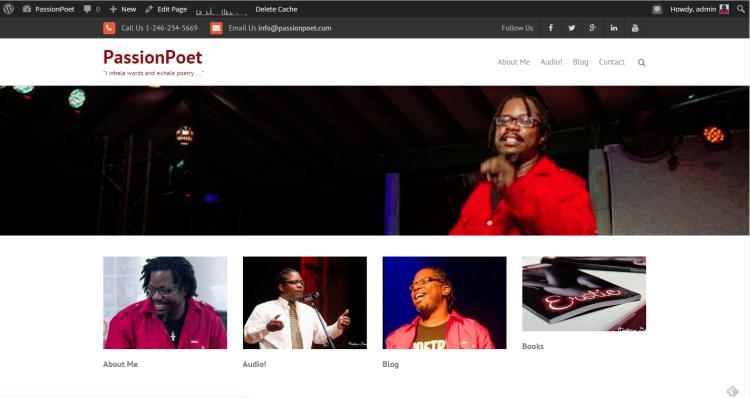 PassionPoet website
